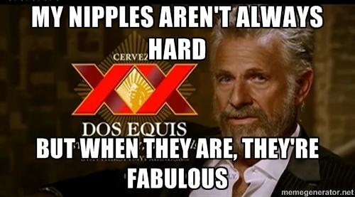 nipples are always hard