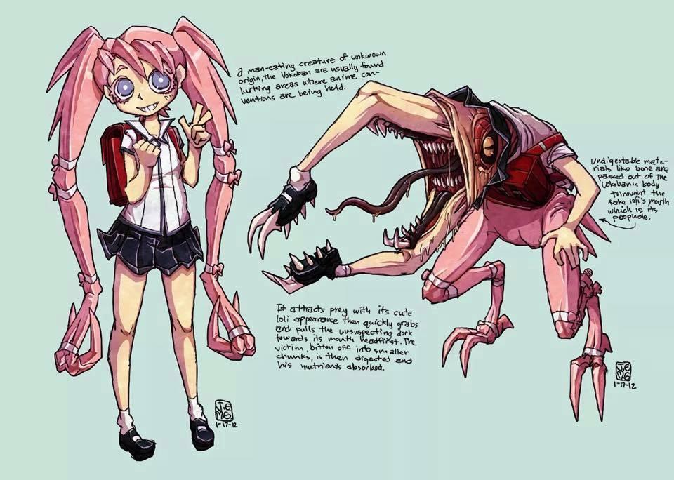 Sexy Anime Monster Girl