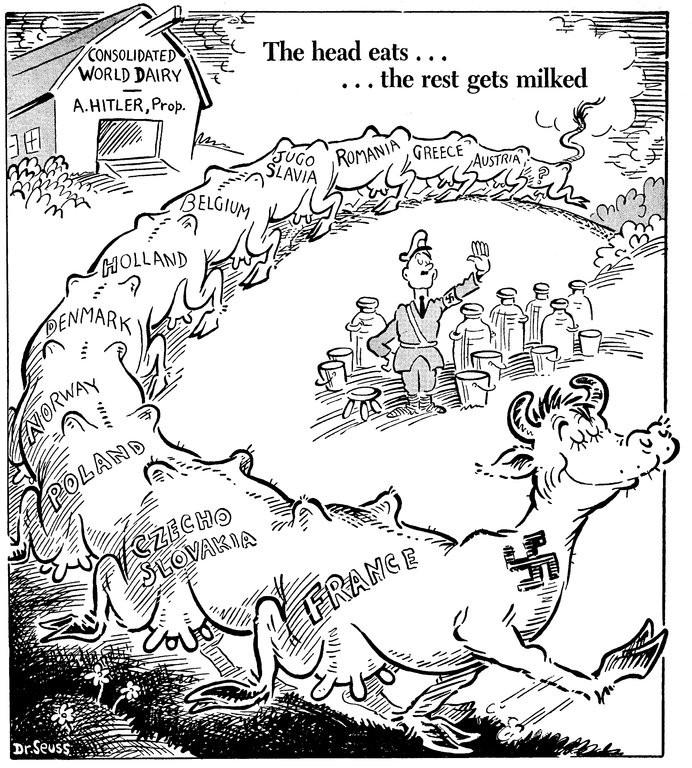 drseusss political cartoons essay
