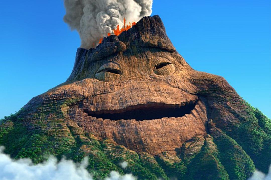 Вулкан гифки пейзажи